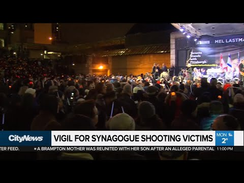 Pittsburgh synagogue shooting victims honoured in Toronto