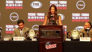 WAR OF WORDS! MANNY PACQUIAO vs KEITH THURMAN + UNDERCARD COMPLETE FINAL PRESSER