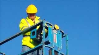 Supervisor on scissor lift