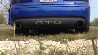 2006 Pontiac GTO stock exhaust sound muffler delete Sound