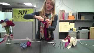 Learn how to make beautiful ribbon flowers using wired edge ribbon ...
