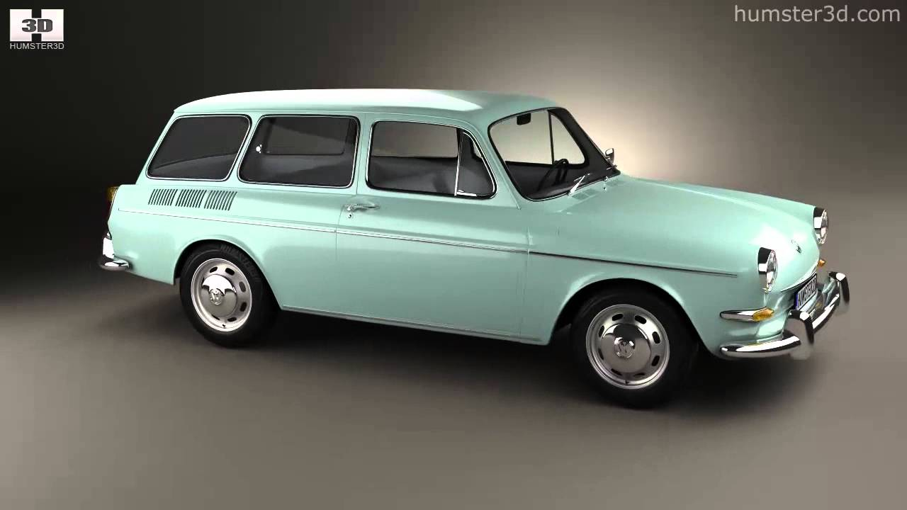 volkswagen type 3 1600 variant 1965 by 3d model store. Black Bedroom Furniture Sets. Home Design Ideas