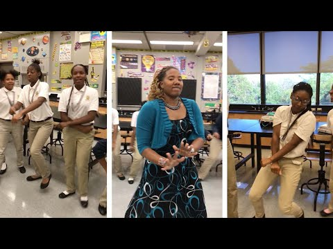 Teacher And Pupils Rap For Class Grade