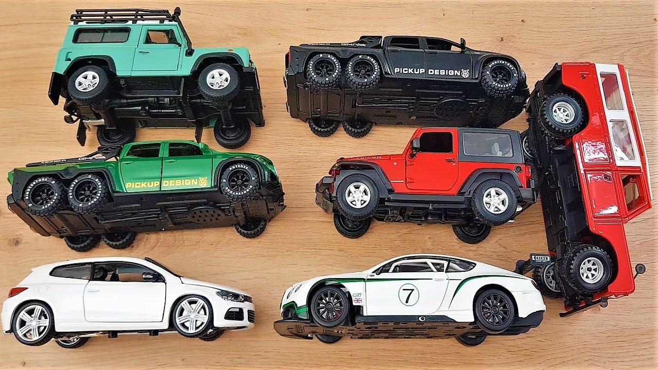 7 car models in 1/24 scale