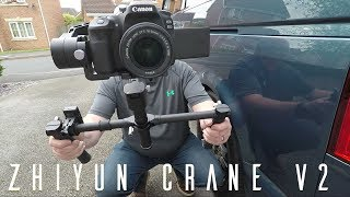Zhiyun Crane Review with dual handle and remote control