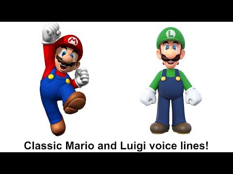 Classic Mario and Luigi voice lines!
