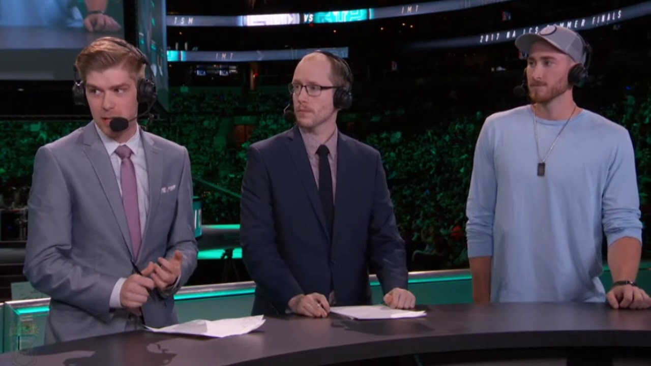 Gordon Hayward at the League of Legends North American Finals