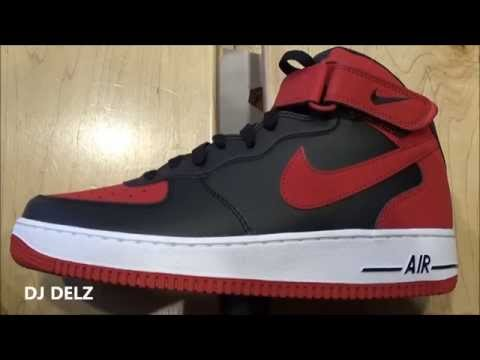 8e822971d0824 Nike Air Force 1 Bred Mid Sneaker Review With  DjDelz