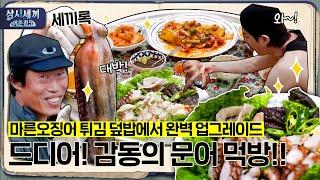 [#삼시세끼어촌편5 세끼록] 🐙돌문어 오셨다!!! 마른오징어 튀김 덮밥에서 완벽 업그레이드! 감동의 문어 먹방🐙| 3 Meals a Day - fishing trip 5 EP.4