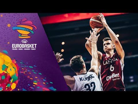 HIGHLIGHTS: Kristaps Porziņģis' first EuroBasket game!!! (VIDEO)