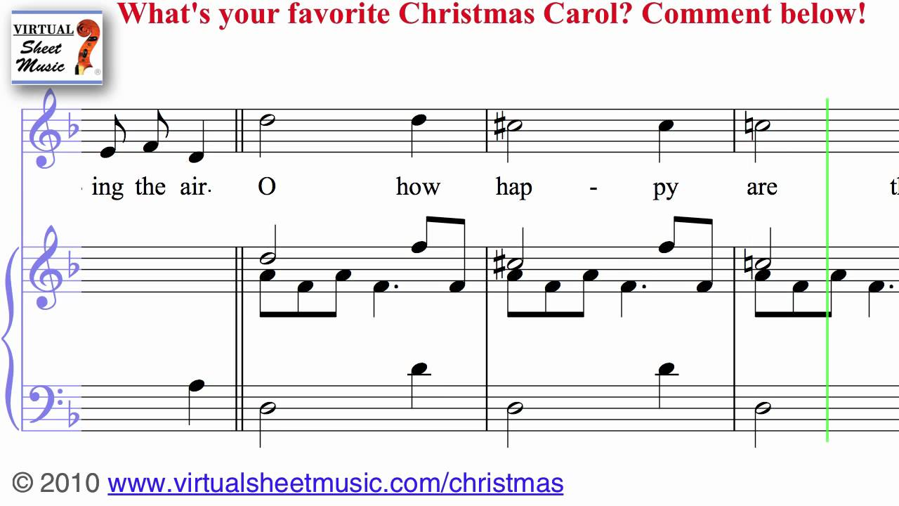 Christmas Sheet Music, Carols and Songs - Jingle Bells, Silent Night ...