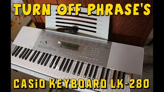 HOW TO TURN OFF LESSON PHRASE
