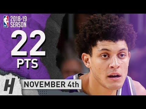 Justin Jackson Full Highlights Kings vs Bucks 2018.11.04 - 22 Pts!