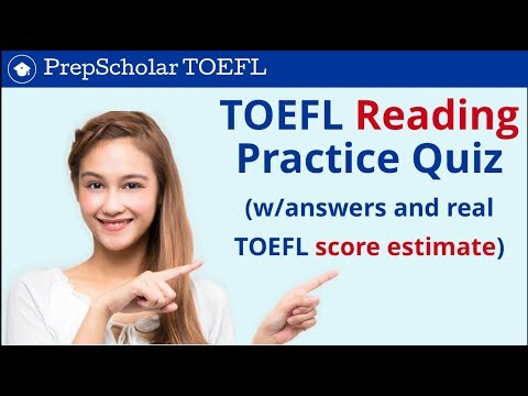 TOEFL Reading Practice Quiz | Answers Included