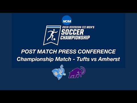D3 MSOC Championship Post Match Press Conference - Tufts vs Amherst