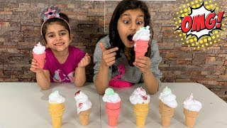 Don't Choose the Wrong Ice Cream Cone Toy Slime Challenge!!