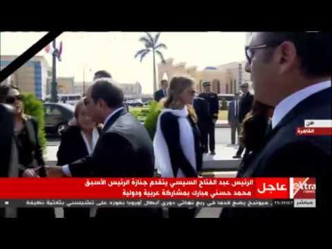 الرئيس السيسي يقدم واجب العزاء لأسرة الرئيس الأسبق حسني مبارك