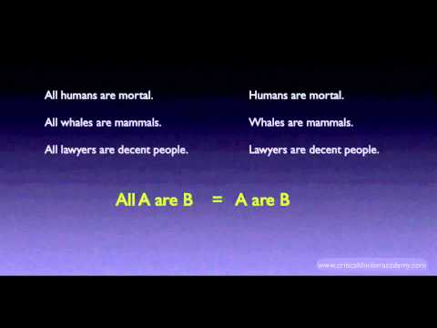 Categorical Logic: All A are B