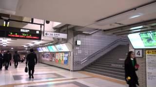 夜の 名古屋駅中央通路 新幹線改札口から2番線プラットフォームまで nagoya station center passage nagoya