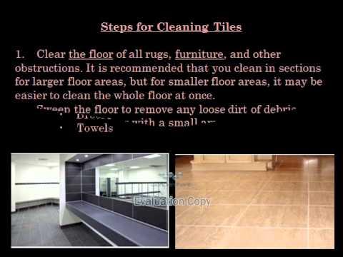 How To Clean NonSlip Tile Flooring YouTube - Cleaning non slip tiles