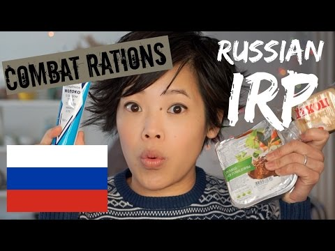 Russian Individual Ration Pack IRP | tasting a Russian MRE