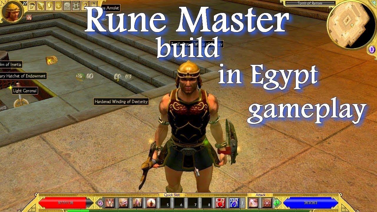 Titan Quest Ragnarok RuneMaster build on the making