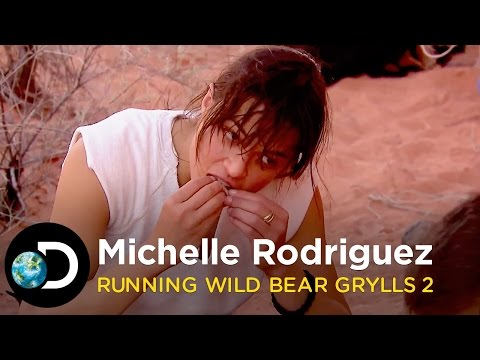 Michelle Rodriguez's Most Disgusting Meal  Running Wild with Bear Grylls S2