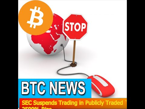 BTC News - SEC Suspends Trading In Publicly Traded `The Crypto Company´ After 2500% Rise