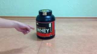 распаковка и обзор протеина 100 Whey Gold Standard