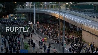 LIVE: Protesters opposing extradition bill flood Hong Kong streets