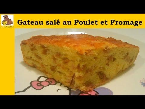 gâteau-salé-au-poulet-et-fromage---recette-rapide-et-facile