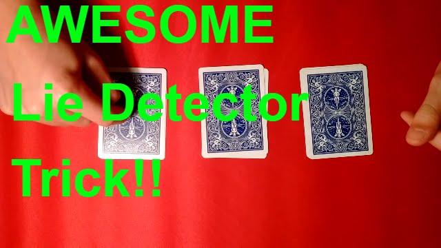 lie detector very cool beginners card trick  youtube