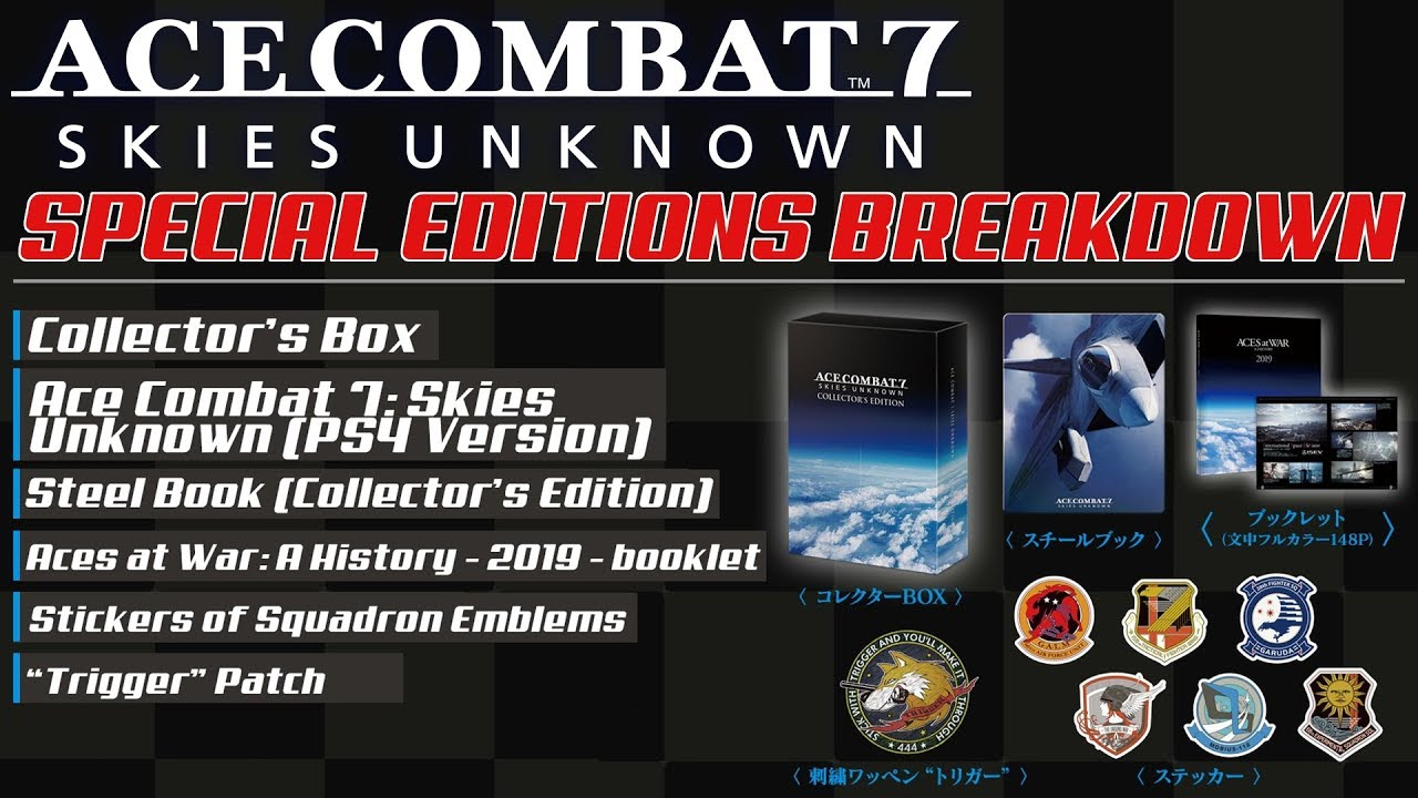 Ace Combat 7: Breakdown of All Special Editions (Standard, Pre-Order,  Deluxe & Collector's)