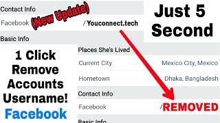 Solved Facebook Accounts Username Permanently removed | Just 5 Second & 1 click (New Method) 2018