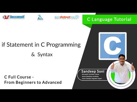 If Statement in C Language for C Beginners - C Programming Training