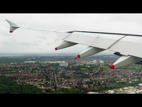 INCREDIBLE SMOOTH British Airways A380 Landing at London Heathrow Airport (LHR)!