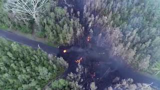 Lava flow in Leilani Estates