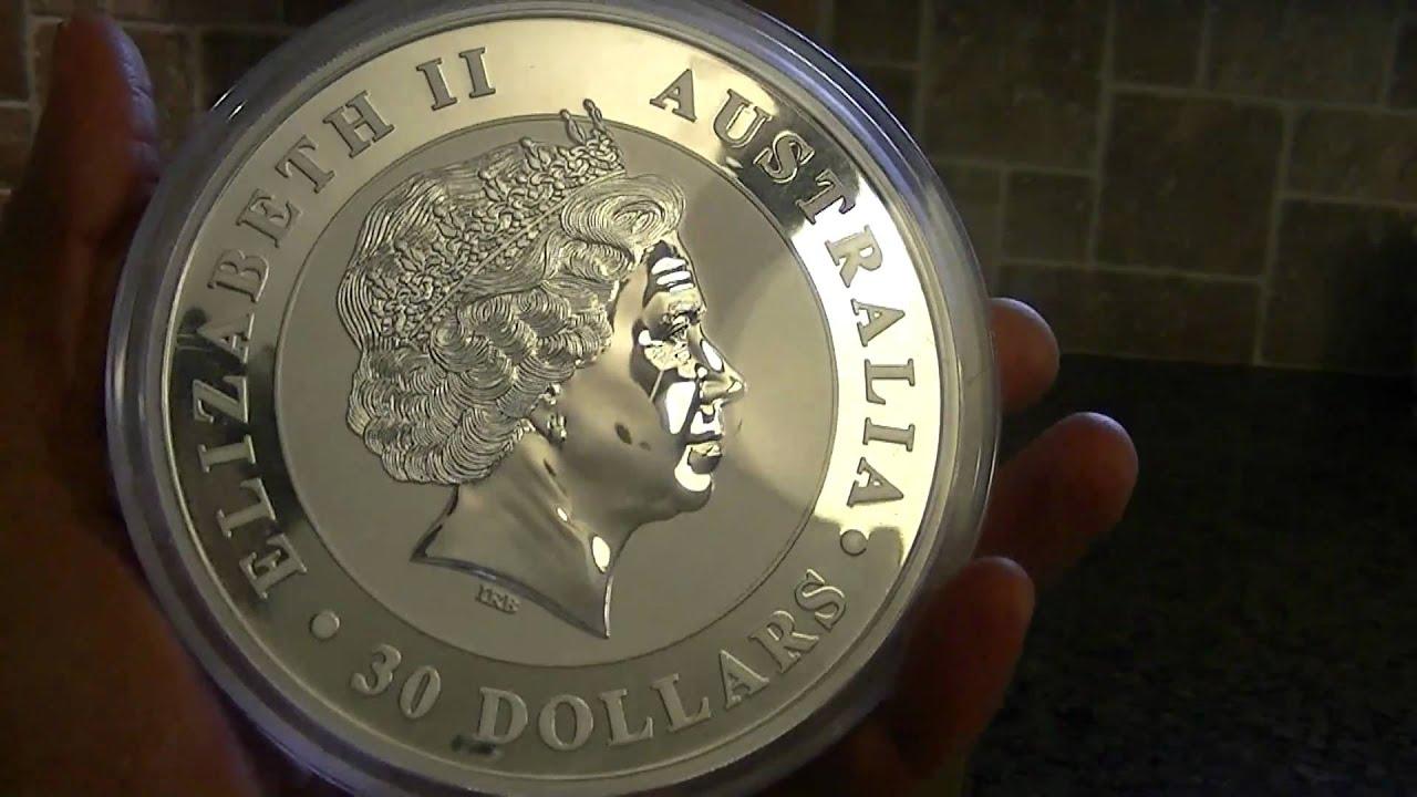 1kg 2011 Australian Kookaburra Silver Coin By Perth Mint