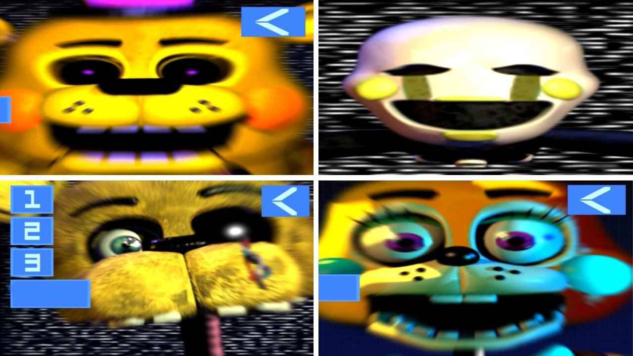 all jumpscares five nights at fredbears family diner 2 youtube