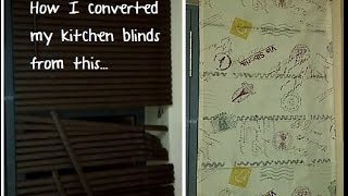How I converted my plain kitchen blinds to Roman blinds |DIY|