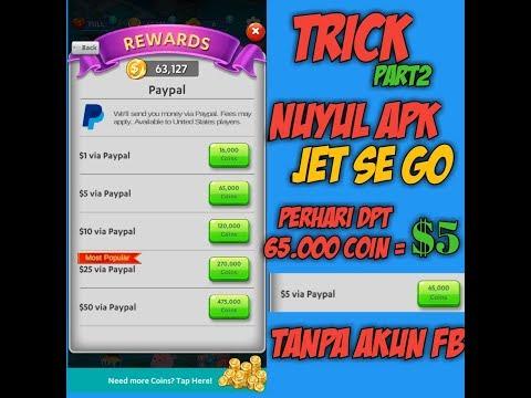 """""""TRICK"""" PART2 CARA N*YUL APK JET SE GO PERHARI DPT 65.000 COIN=$5"""
