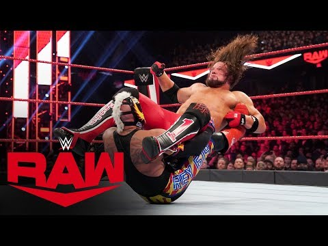 Rey Mysterio Dethrones U.S. Champion AJ Styles: Raw, Nov. 25, 2019