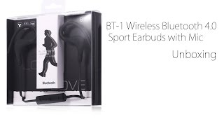 BT-1 Wireless Bluetooth 4.0 Sport Earbuds from GearBest Mp3