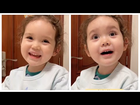 #funny#baby#Cute Funny and cute Georgia baby talk to her father moments best videos