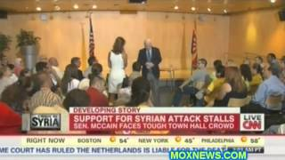 Senator McCain BITCH SLAPPED By Constituents Over His Blood Lust To Begin World War III
