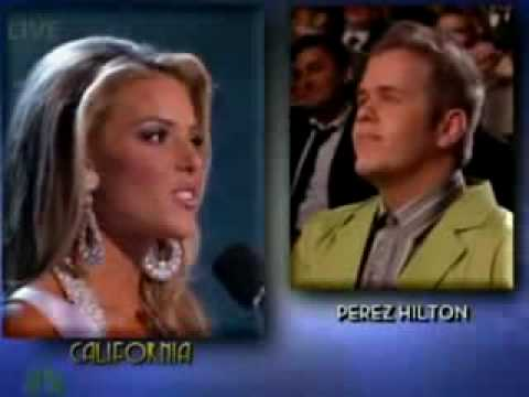 Miss California Gay Marriage Youtube 13
