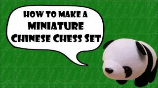 Panda's Miniatures - Chinese Chess Set