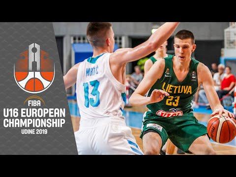 Slovenia v Lithuania - Full Game - FIBA U16 European Championship 2019