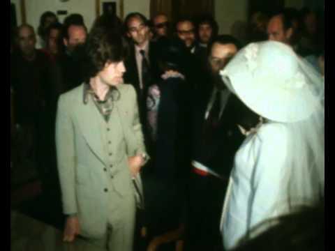 Mick Jagger marrying Bianca Peres Moreno de Macias