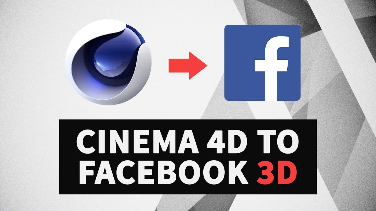 How To Convert Cinema 4D Exported Models Into Facebook Ready 3D glTF 2 0  Files